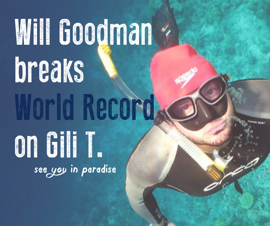 Will Goodman breaks the world record for deepest dive to 290m