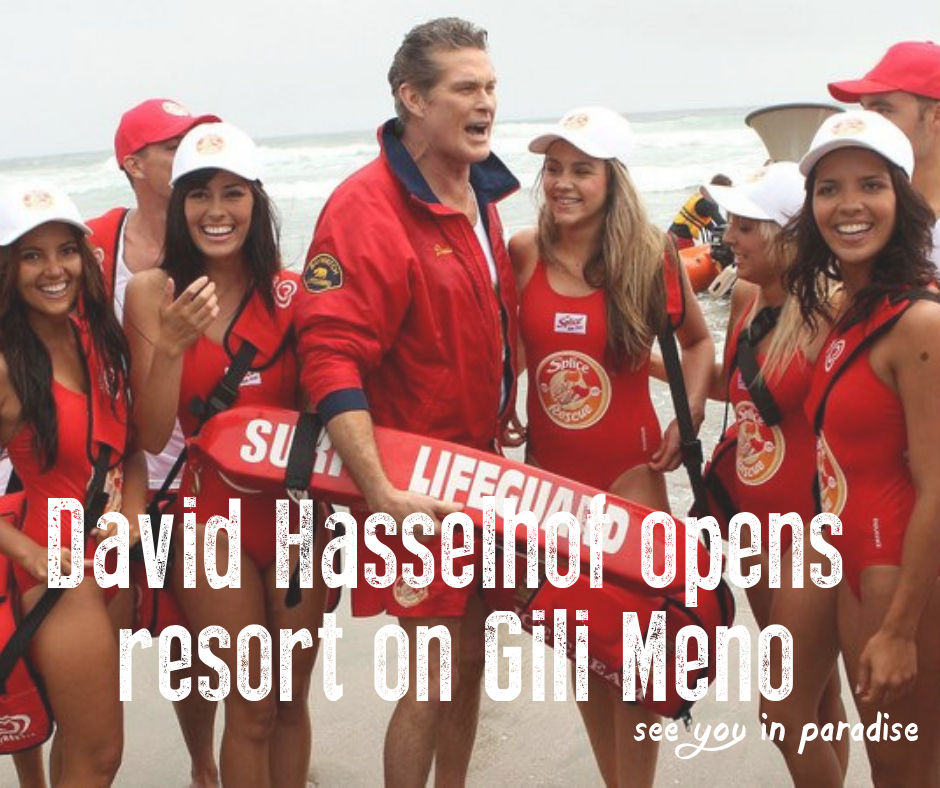 David Hasselhoff is opening a beach club and resort on Gili Meno