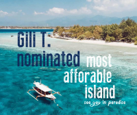 Gili T. Nominated by Tripadvisor as Most Affordable Island