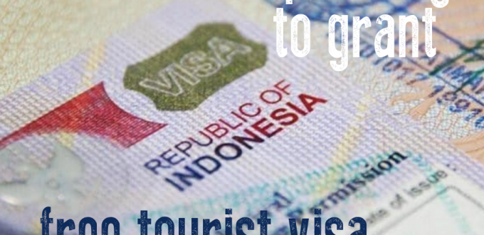 Indonesia is planning to grant free tourist visa to frequent visitors