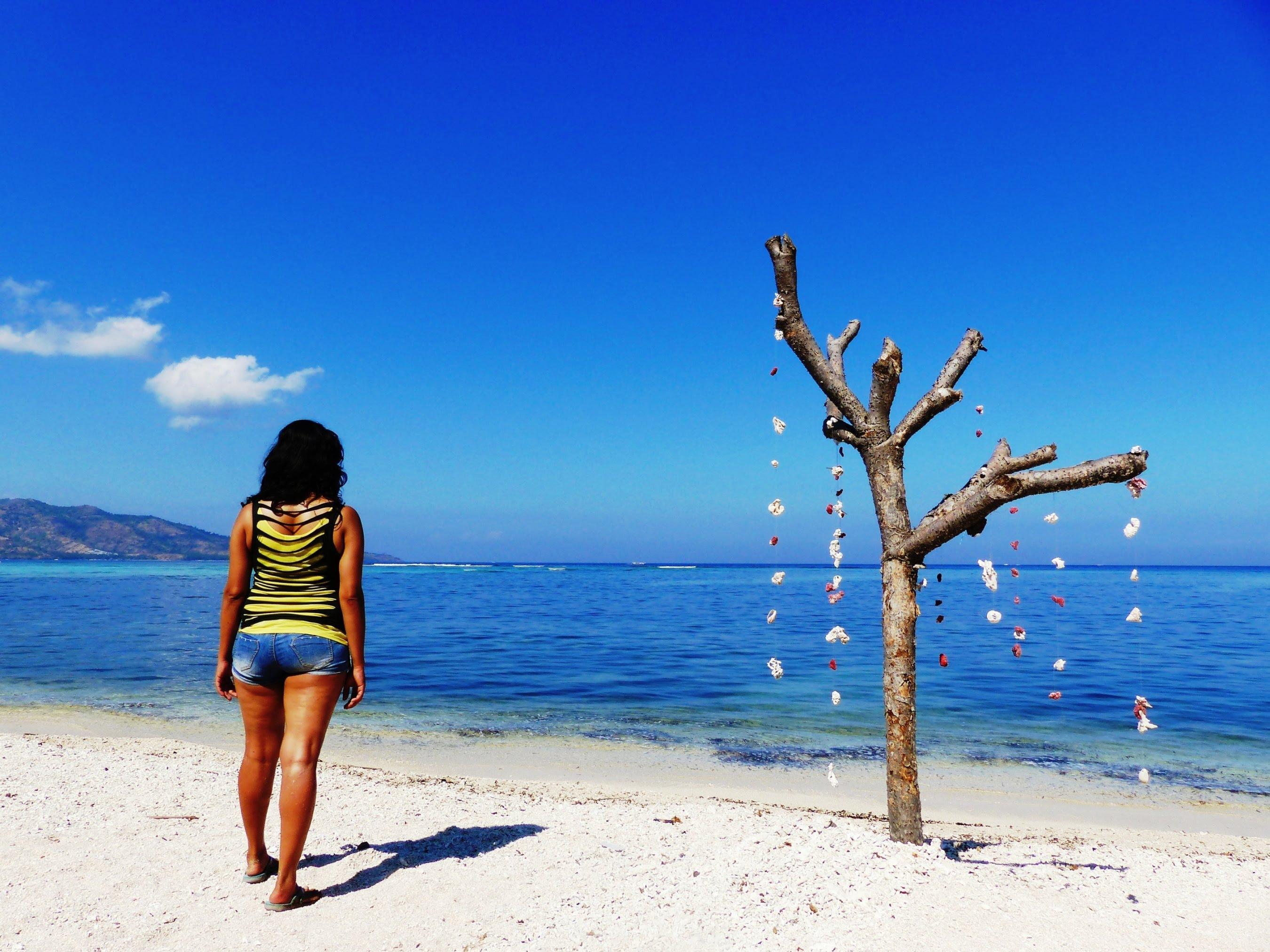 Gili Air beach, Gili Islands, Lombok, Indonesia