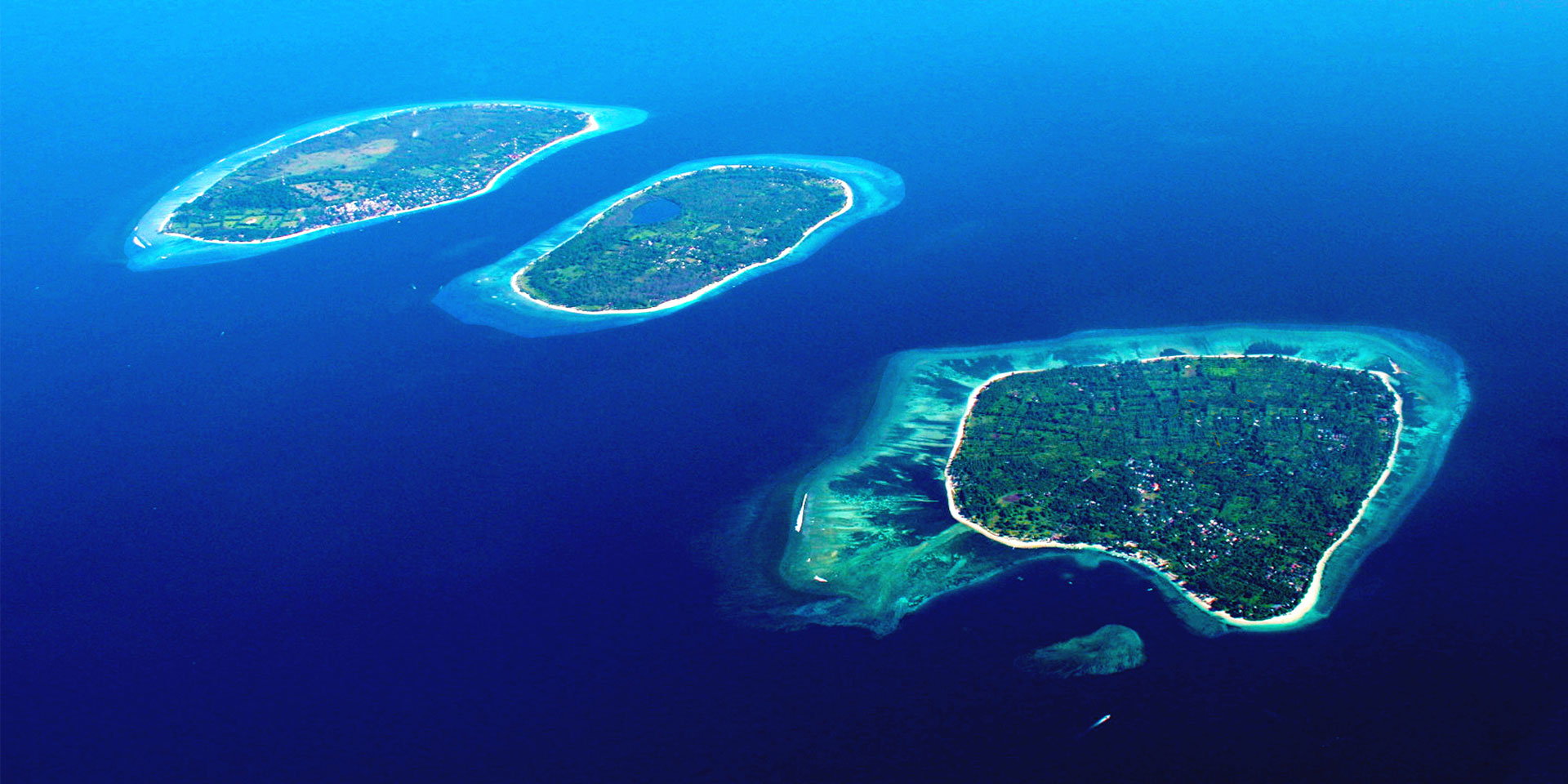 The 3 Gili Islands, Gili Trawangan, Gili Meno and Gili Air