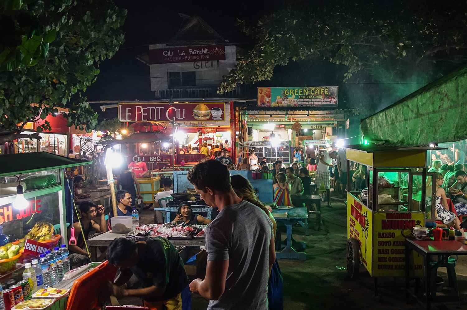 Night Market on Gili Trawangan.