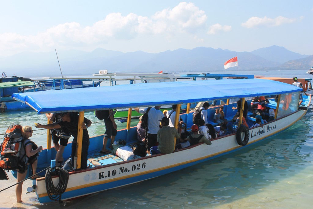 Public boat between Bangsal and the Gili Islands.