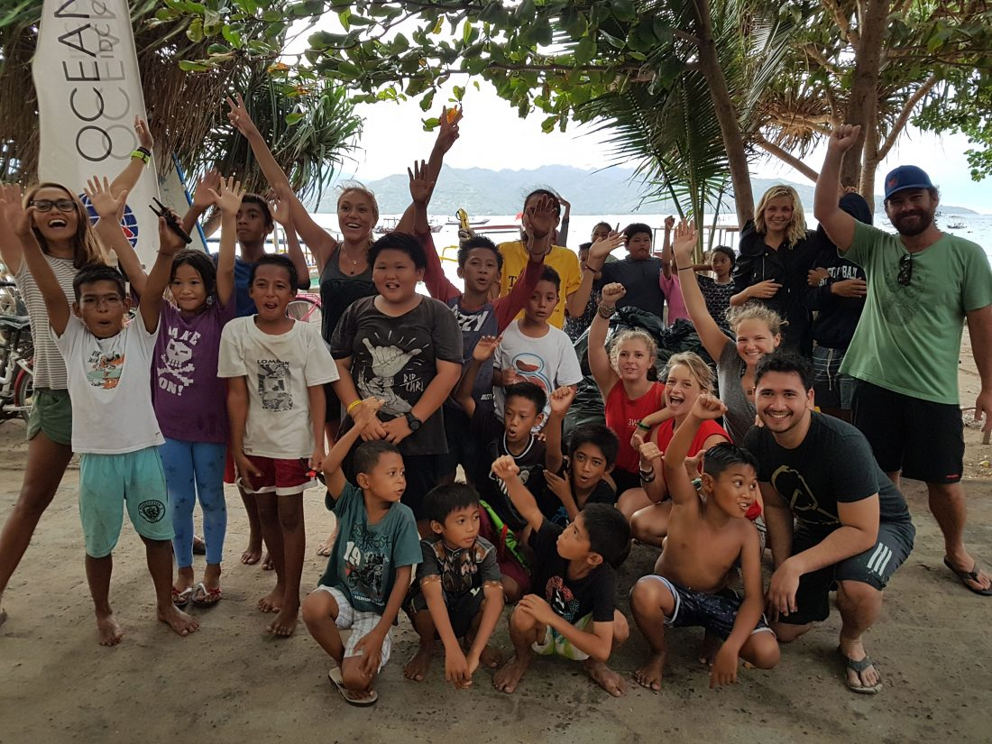 Beach Clean Up Organized By The Gili Shark Conservation Project