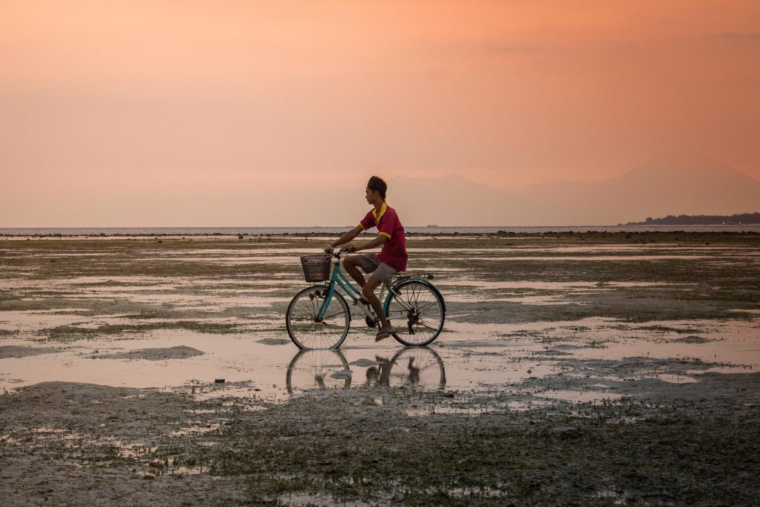 Renting a bicycle is a great way to explore the Gili Islands