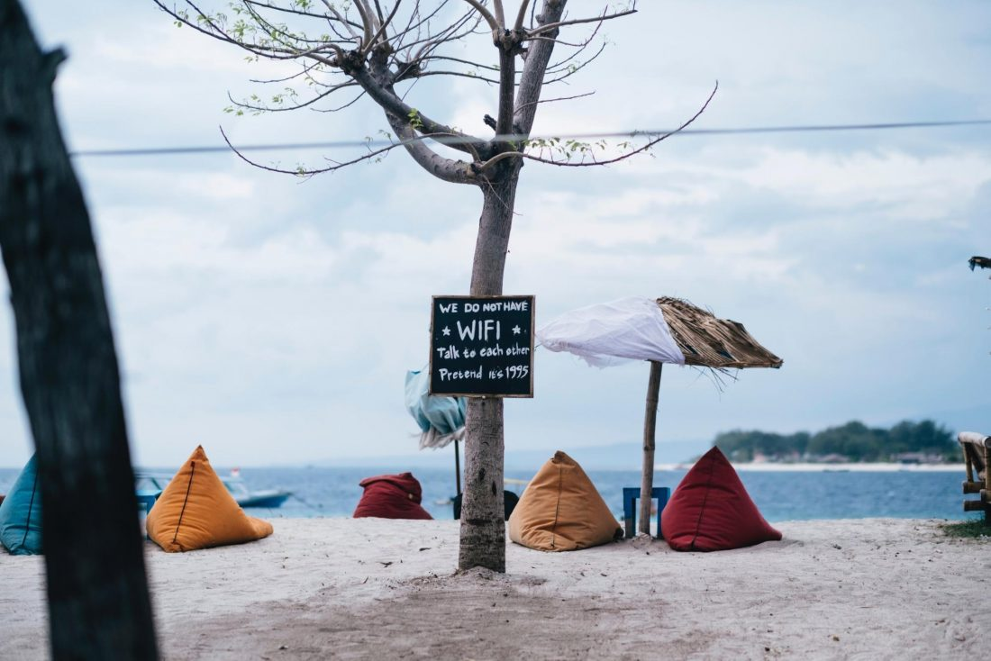 Gili Trawangan is not only for partiers there's also a chill quiet side on the island.