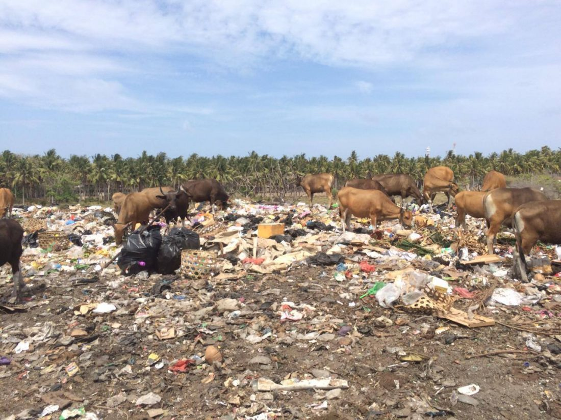 There are initiatives being done for the trash on the Gili Islands in Indonesia.