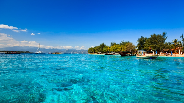 Have your honeymoon on Gili Meno island in  Indonesia.