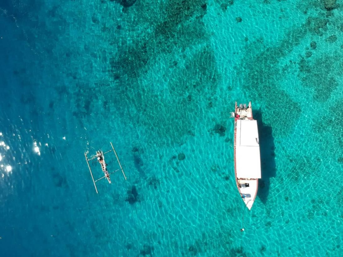 Beautiful Drone Shot Of Gili Air In Indonesia
