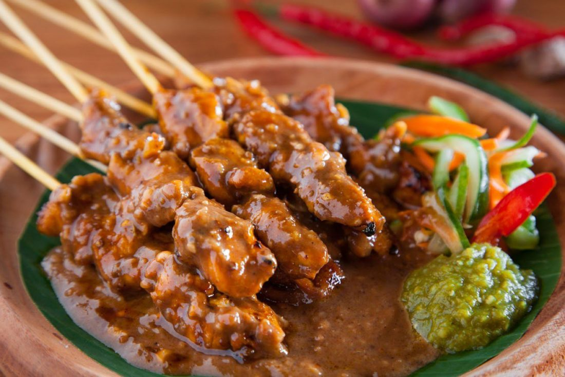 Best Chicken Sate On The Gili Islands in Indonesia