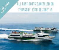 Gili News: fast boats to the Gili Islands are cancelled on Thursday 13th of June 2019