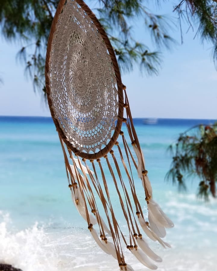 Dream catcher On The Beach On A Tropical Island