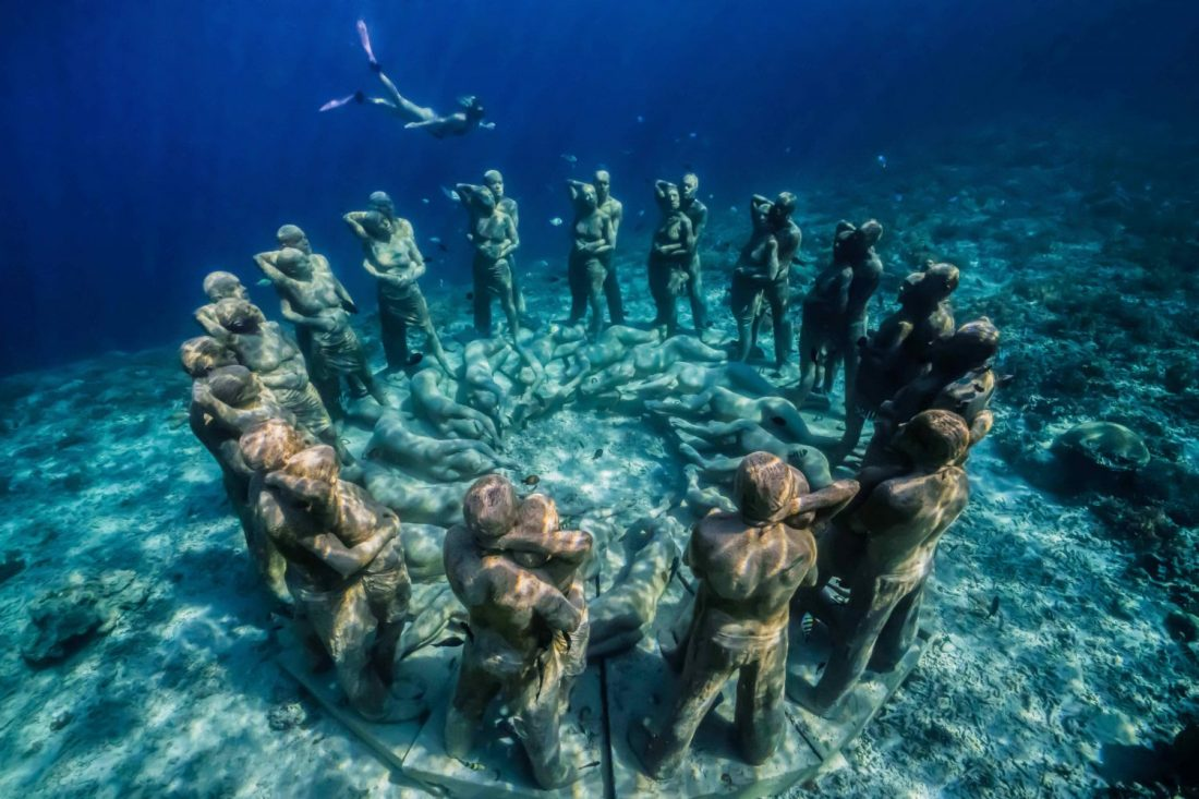 Location Underwater Sculpture - Gili Meno - Indonesia